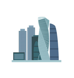 moscow city flat moscow vector image