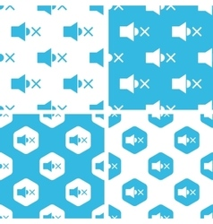 Muted loudspeaker patterns set vector