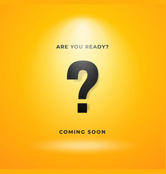 Mystery item coming soon poster background yellow vector