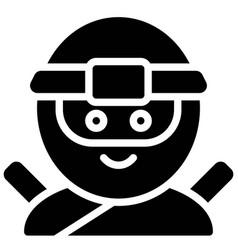 Ninja avatar halloween costume vector