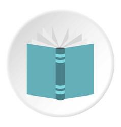 Open thick book icon circle vector