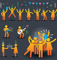 People party symbols vector