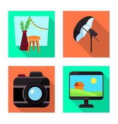 photoshoot and work logo vector image