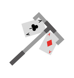 Poker card with casino picker vector