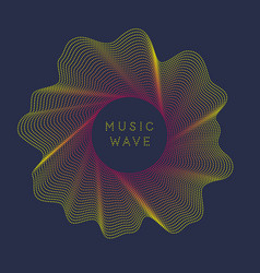 Poster sound wave music on vector