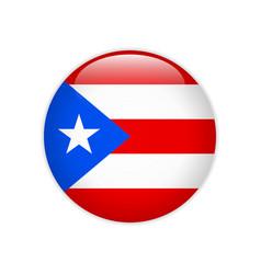 Puerto rico flag on button vector
