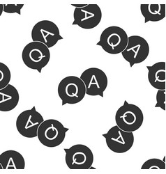 question and answer mark in speech bubble icon vector image