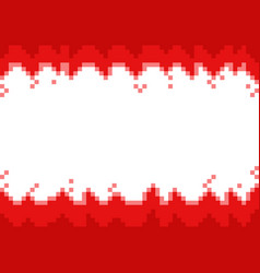 red abstract pixel bordersframe with space for vector image