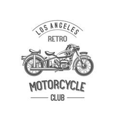 retro motorcycle club vector image