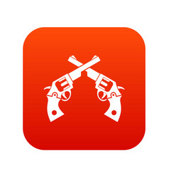 Revolvers icon digital red vector