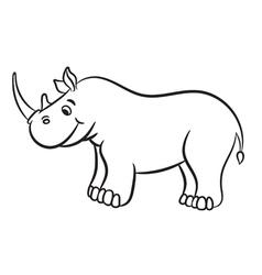 Rhino black and white vector