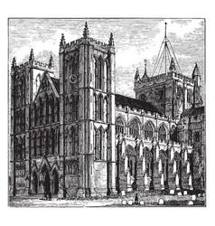 Ripon cathedral vintage vector