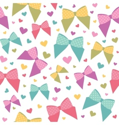 seamless pattern with bows vector image vector image