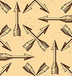 Seamless pattern with vintage arrows vector image