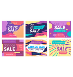 set abstract banners for social media marketing vector image