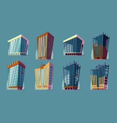 Set cartoon of an urban large vector