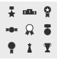 Set of icons of different awards vector image