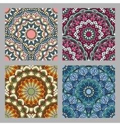 Set of Seamless oriental pattern vector image