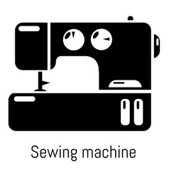sewing machine icon simple black style vector image