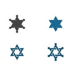 star serif icon template vector image