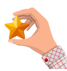 star shape ornament in hand vector image