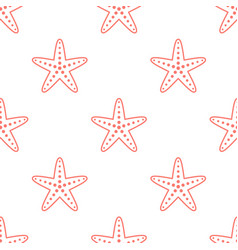 starfish seamless pattern background vector image