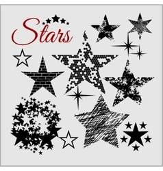 Stars Collection set vector