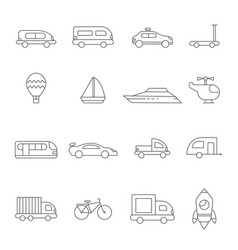 Transport symbols linear of various vector
