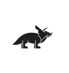 triceratops black concept icon triceratops vector image