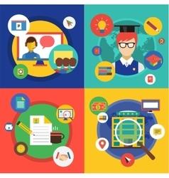 Webinar Online School vector image