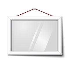 white isolated horizontal photo frame vector image