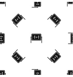 board pattern seamless black vector image