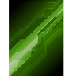 Dark green abstract tech background vector image vector image