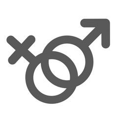 female and man gender symbol icon simple vector image