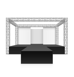 outdoor festival stage podium metal truss system vector image
