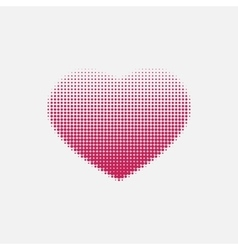 Red heart painted with dots vector image vector image
