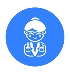 Scientist black icon for web and vector image vector image