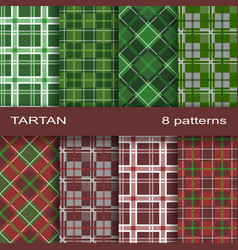 Set of tartan pattern vector