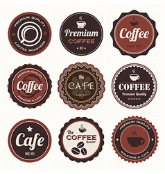 Set of vintage coffee badges and labels vector image vector image