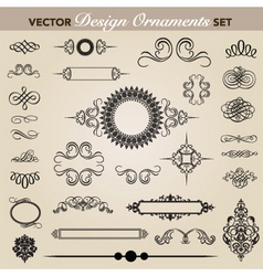 vector design and swirl ornaments set vector image vector image