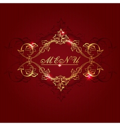 Vintage red background vector image vector image