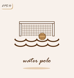 Water polo vector image