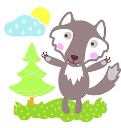 WolfForest vector image vector image