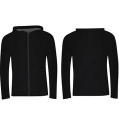 black hoodie vector image vector image
