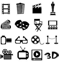 Cinema icons set vector image vector image
