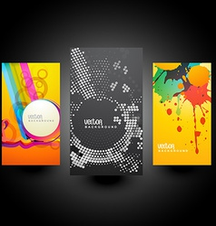 creative abstract cards vector image
