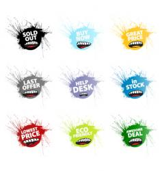 grunge retail tags vector image