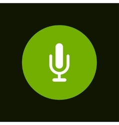 modern microphone icon in green circle vector image