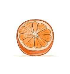 Sketch of orange for your design vector image