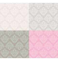 abstract pastel decorative seamless patterns vector image vector image